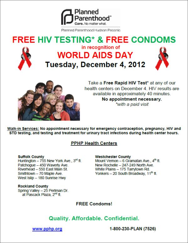 WAD2012 free hiv testing